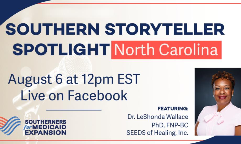 Graphic for Southern Storyteller Spotlight even